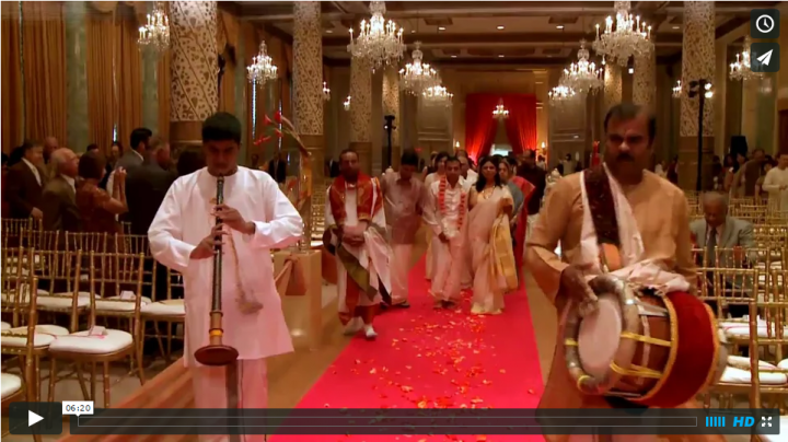 South Indian wedding videographer at its best filmed by Oak Street Films Chicago