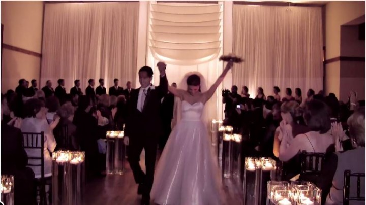 Chicago wedding videographer at its best filmed by Oak Street Films at Ivy Room Chicago